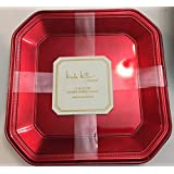 """Set of 4 Nicole Miller Red 13"""" Lacquer Charger Plates"""