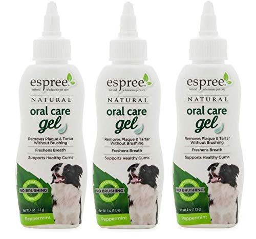 Espree Dog Oral Care Peppermint Flavored Gel, 4 Ounces, Pack of 3 by Espree