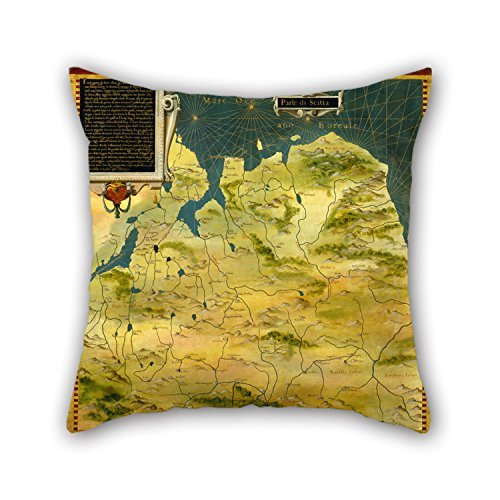 Beautifulseason Oil Painting Stefano Bonsignori - Karelia And Northern Russia Throw Pillow Case Best For Car Teens Boys Dinning Room Kids Kids Boys Gf 16 X 16 Inches / 40 By 40 Cm(two Sides) - Black Karelia Leather
