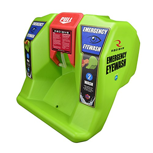 (VisionAid REW01116 Radians Emergency Eyewash Station, Hi-Viz Green, 16 gallon )
