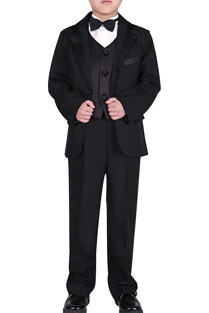Boys' Formal Suits 5 Pieces Kids Blazers for Wedding Dresswear Set