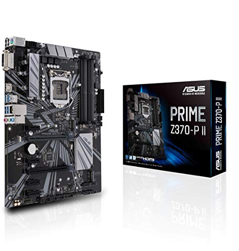 Asus Prime Z370-P II GA1151 (Intel 9th Gen) DDR4 HDMI DVI M.2 Z370 II ATX Motherboard with Gigabit LAN and USB 3.1