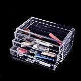 Kurtzy Transparent Acrylic Cosmetic Jewellery Box Organizer With 3 Layer Rack 23.5x10x10.5 CM