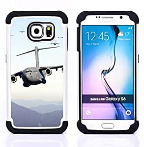 - US Air Force aircraft - - Fulland Deluxe Hybrid TUFF Rugged Shockproof Rubber + Hard Case Cover FOR Samsung Galaxy S6 G9200 Queen Pattern