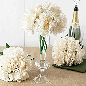Mikash 11 Silk Artificial Peony Flowers Bouquet Wedding Party Centerpieces Decorations | Model WDDNGDCRTN - 9006 | 58