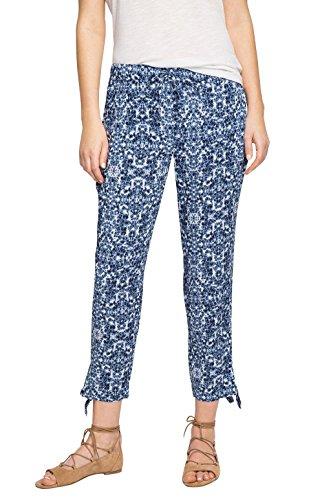 edc by Esprit Gemustert, Pantalones para Mujer Azul (NAVY 400)