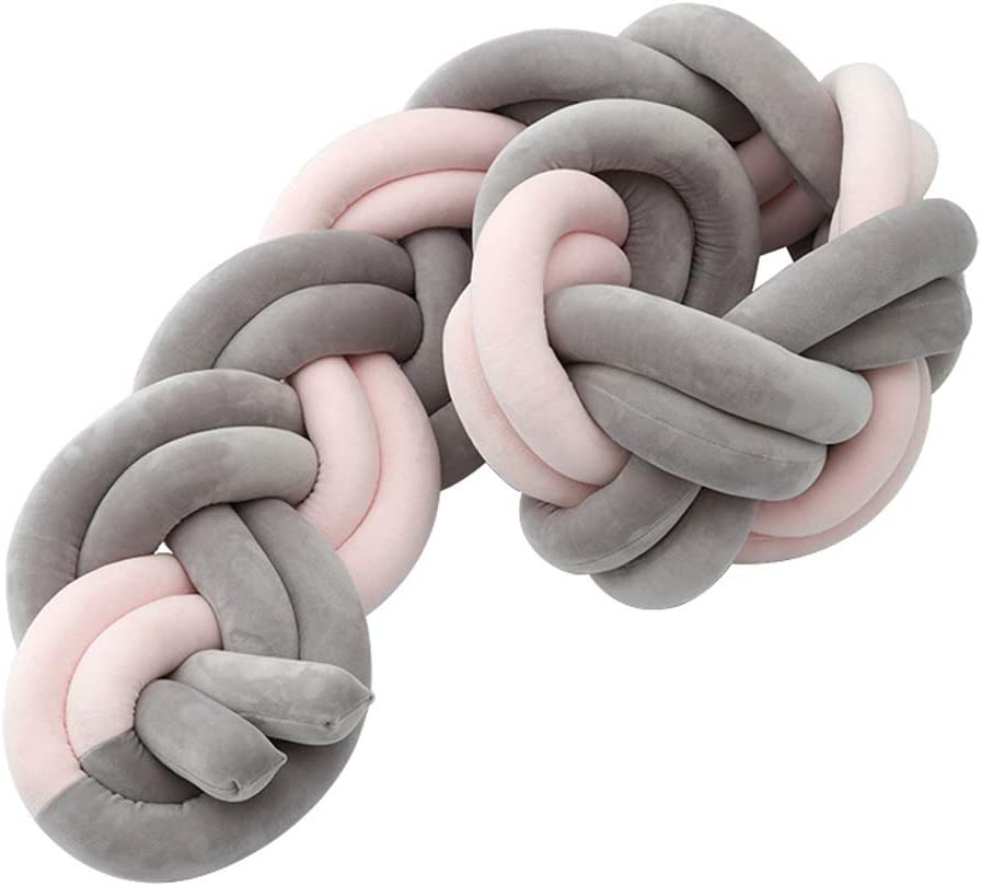 6本のsharesWeavingベビーバンパーベッドレールベビー保育園のための三つ編みの枕保育園の装飾ソフト編組バンパー (Color : A, Size : 300(3m))