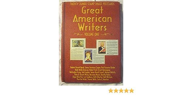Amazon.com: Great American Writers Twenty Jumbo Stamp Image Postcards: Everything Else