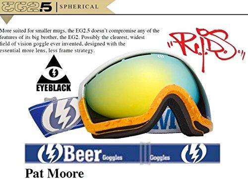 ブロンズwith aシルバークロムミラーElectric eg2.5 Pat Moore Proビールメンズスキースノーボードゴーグル