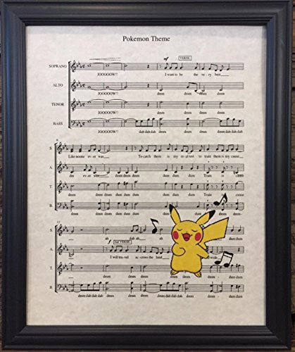 Ready Prints Pokemon Music Sheet Artwork Print Picture Poster Home Office Bedroom Nursery Kitchen Wall Decor - unframed]()
