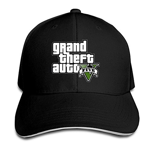 grand-theft-auto-5-logo-unisex-100-cotton-adjustable-trucker-hat-black-one-size