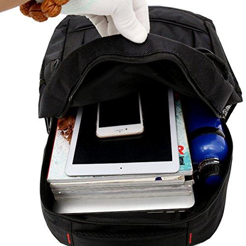 BULAGE Mochila De Computadora De Hombre Bolso De Hombro Del Negocio Bolso Grande Del Estudiante De La Capacidad Bolso Multiusos Ciclo Ocio E
