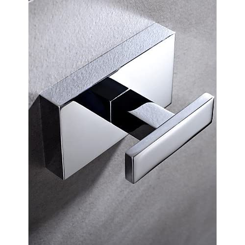 qiuxi Modern bathroom accessories Contemporary Chrome Finish Brass Wall Mounted Robe Hooks hot sale