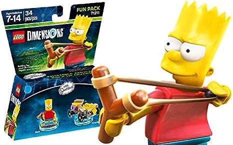 Lego Dimensions - The Simpsons - Bart Fun Pack [Importación ...