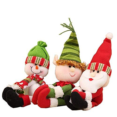 Santa Claus Wine Bottle Cover Christmas Decorations for Home Snowman Bottle Pendant Sets Xmas Dinner Table ()
