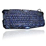 Toogoo LED 3 Color Backlight/Crackle M-200 Multimedia Ergonomic USB Gaming Keyboard