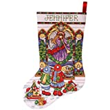Tobin 14 Count Stained Glass Stocking Counted Cross Stitch Kit, 17-Inch Long