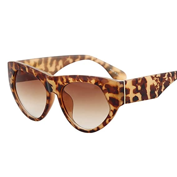 RUIN-Occhiali da sole occhi di gatto retro scatola signora , c3 leopard