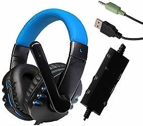 booEy Kopfhörer Gaming für PS4/PS3/Xbox360 PC/Mac Playstation 4 blau