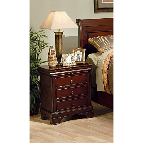 Coaster furniture versailles 3 drawer nightstand for Coaster furniture of america