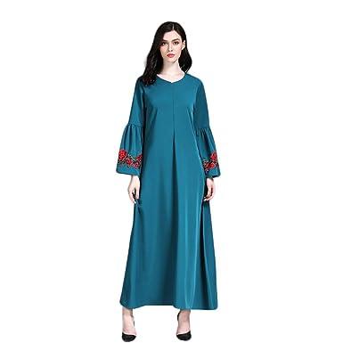 buy popular 91c85 40b5e Zarupeng Moslemische Lange Kleid, Frauen Elegante Dünne ...