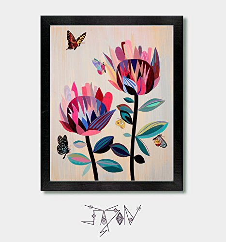 Through The Eyes Of A Butterfly - Flowers, Floral, Garden, Nature, Seattle, Washington, Oregon, Portland, California, San Francisco, Northern, Garden Art, Colorful, Boho, Bay, Mid Century Modern, Mom