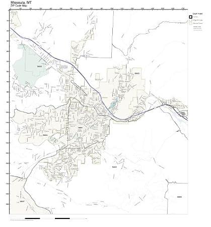 Amazon Com Zip Code Wall Map Of Missoula Mt Zip Code Map Not