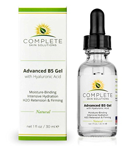 Advanced B5 Hydrating Gel With Hyaluronic Acid-Moisturizing & Hydrating Face Serum For Skin Rejuvenation–Nutritious Natural Formula With Firming, Plumping & Healing Properties