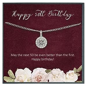 Grace of Pearl Regalo de 50 cumpleaños para Mujeres, Collar ...