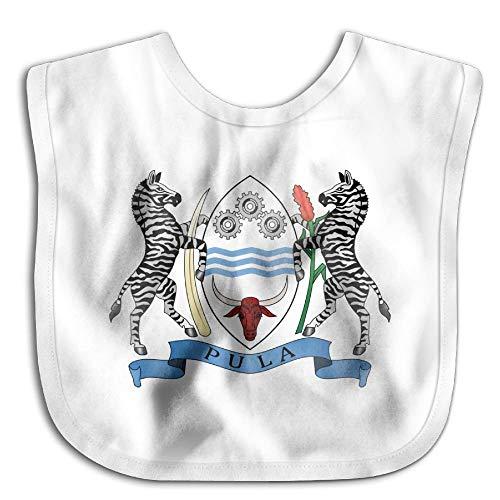 "Coat of Arms of Botswana Newborn Baby Boys Girls Towel Bib Skin-Friendly Saliva Towel Bibs 12.7""x10.8"""