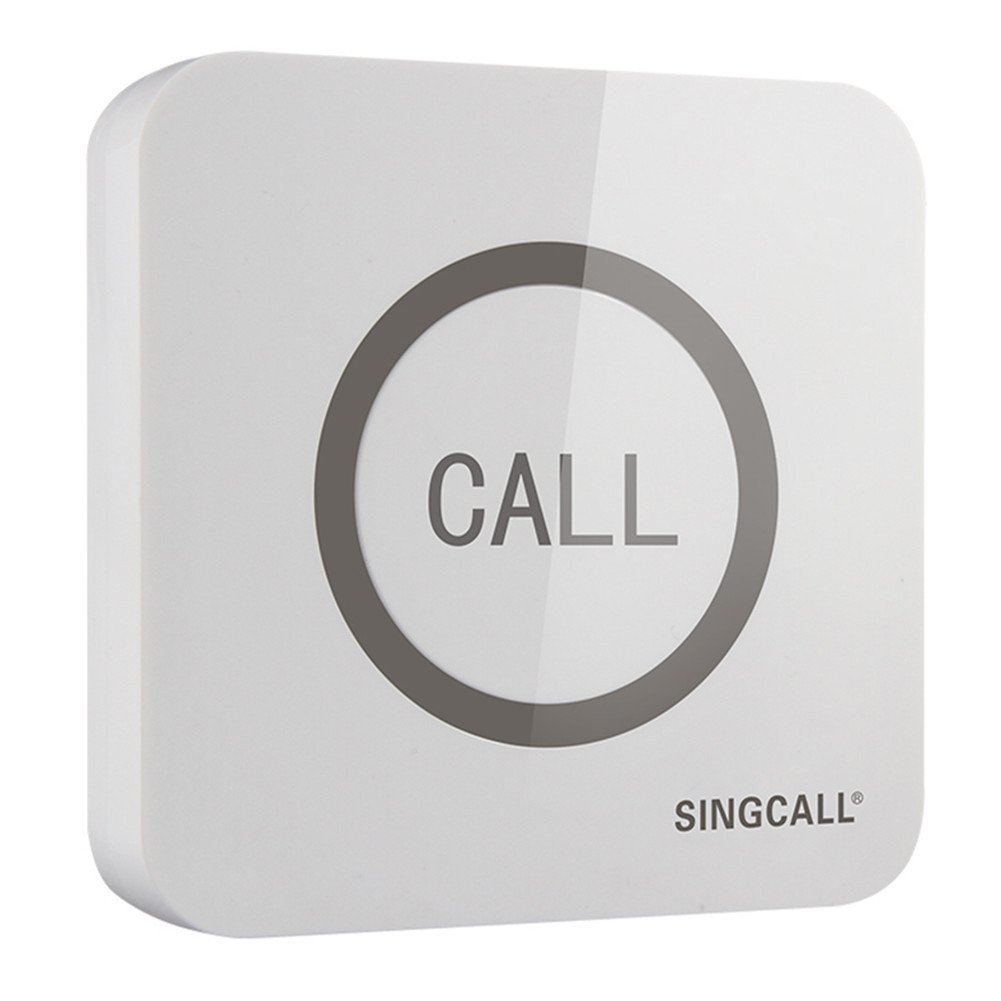 SINGCALL® Home Caring System, Hotel Calling System, Big Touching Button, Make Calling More Convenient, 360 Degree Water-proof, Touchable Button, One-button Pager APE520 (It Can't Be Used Alone!!)