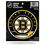 Rico Industries RPHKYBOSRVD Boston Bruins Round Vinyl Decal