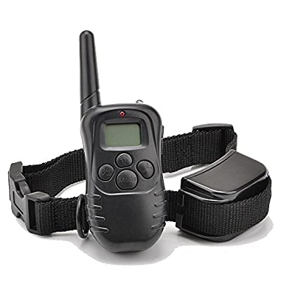 Ranphy 300 Yard 100lv Level Electric Shock Vibra Remote LCD Pet Dog Training Collar from Ranphy