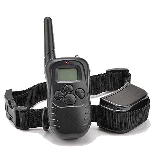 Ranphy 300 Yard 100lv Level Electric Shock Vibra Remote LCD Pet Dog Training Collar