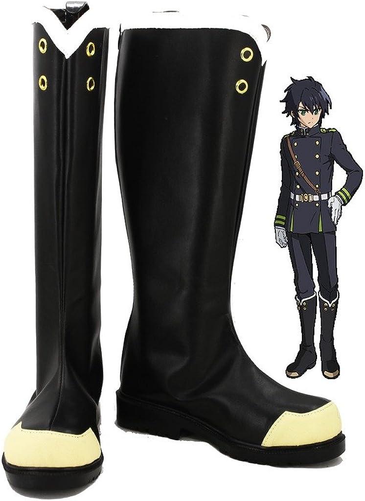 Seraph of The End Anime Yuichiro Hyakuya Hiiragi Shinoa Cosplay Shoes Boots Custom Made