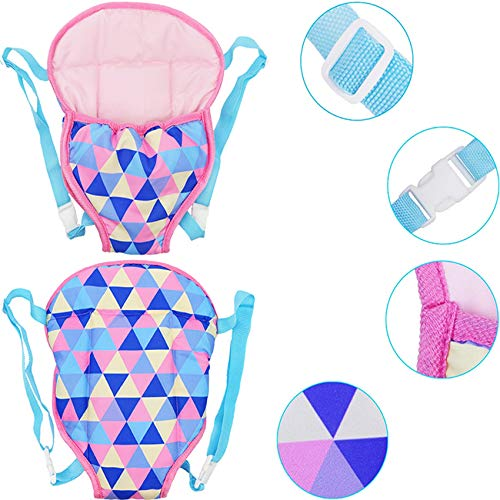 yamaso Doll Carrier Backpack Doll Accessories Front and Back Sling with Straps for 14 Inch to 18 Inch Dolls(Doll not Included)