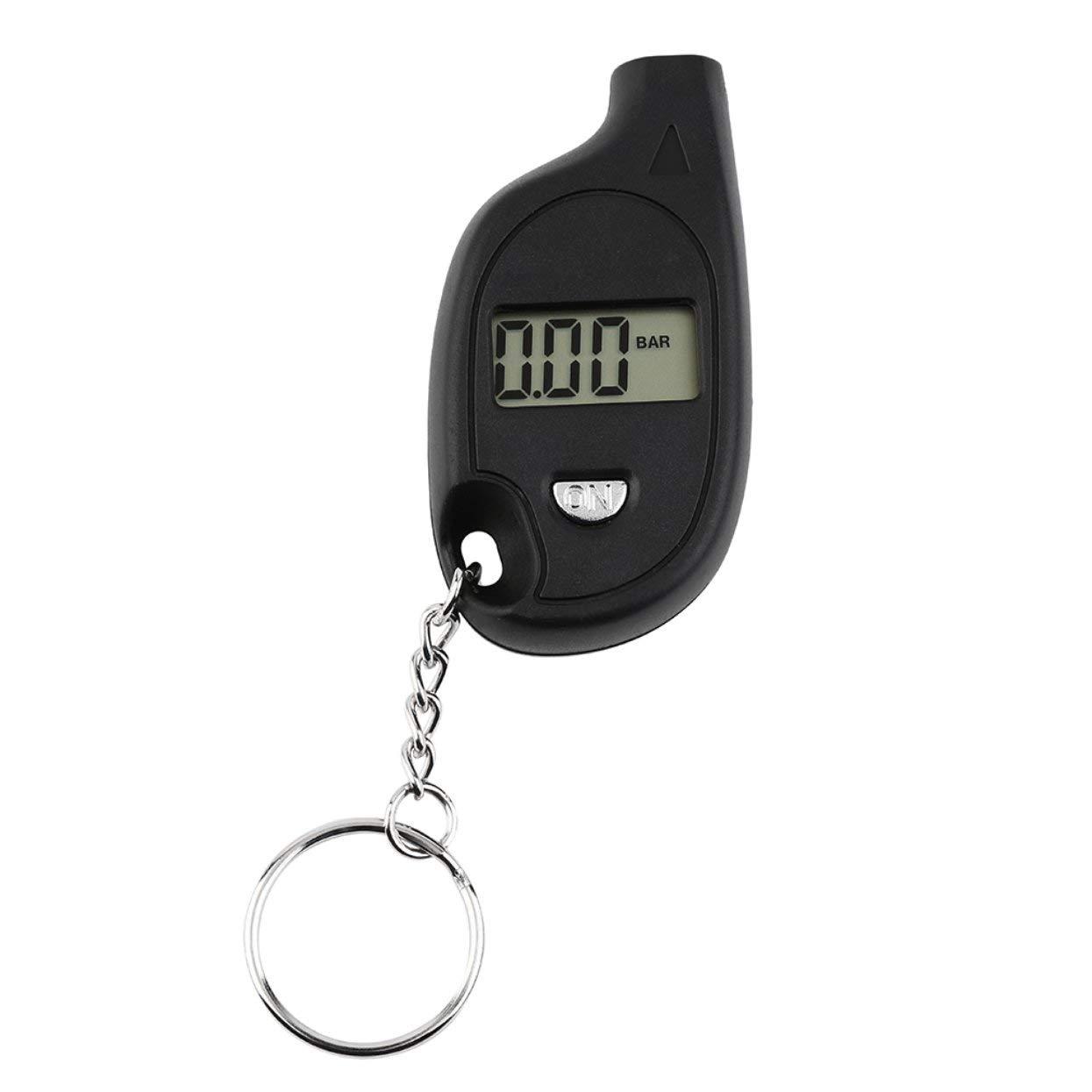 Portable Keychain Mini LCD Digital Tire Tyre Air Pressure Gauge Car Auto Tool