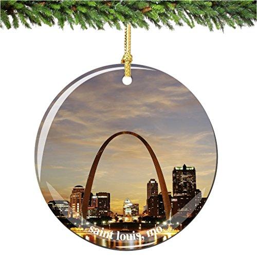 Saint Louis Christmas Ornament, Porcelain 2.75
