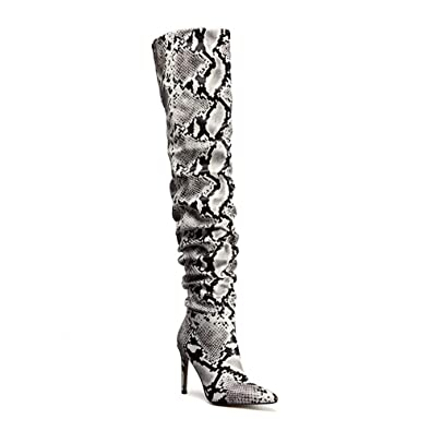 elegant appearance on sale online buy best Amazon.com | OLCHEE Women's Thigh High Boots Stiletto High ...