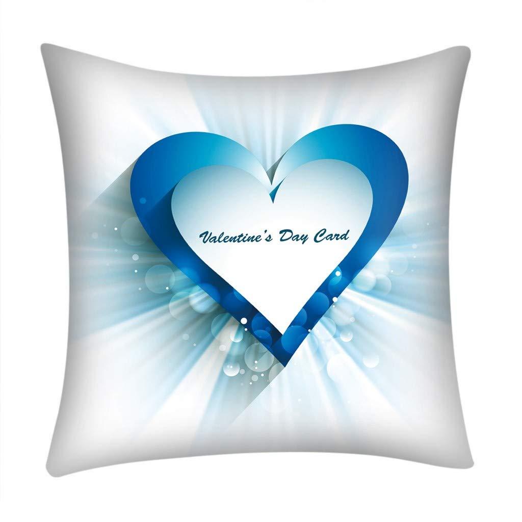 BCDshop Happy Valentine's Day Love Heart 18x18 Sofa Car Home Decoration Pillow Case(E)