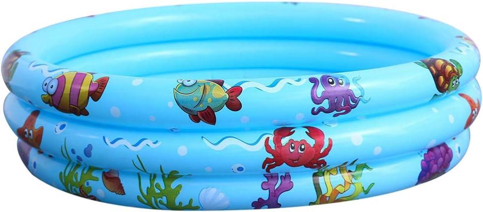 Cabilock Piscina Inflable Redonda para Niños Pequeños Bebés Piscina para Bebés para Jardín Exterior Patio (Azul)