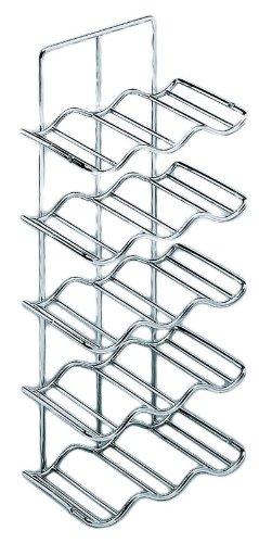 Wine Rack, steel, chrome-plated, 260 x 185 x 624mm