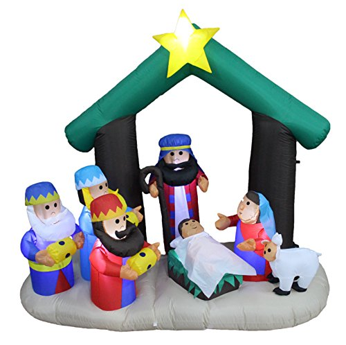 6 Foot Outdoor Nativity Scene with 3 Wise Men