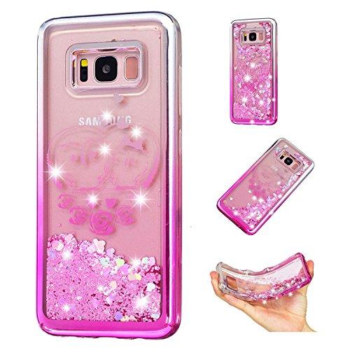Vandot Funda para Samsung Galaxy S8 Brillante Caso Shell, Ultrafino Fluido Líquido Cristal Caso Bling Arena Movediza Patrón TPU Silicona Cubierta de la Caja del Teléfono para Samsung Galaxy S8 5.8 G95 CH LS 05