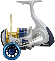 """Specifically designed for saltwater use, the Cedros spinning reels feature a rigid aluminum body and rotor, Okuma's """"Duel force Drag System"""" for extreme stopping power and our proprietary """"High density Gearing"""" with a special corrosion resist..."""