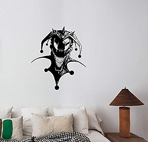 A Good Decals USA Evil Jester Vinyl Wall Decal Scary Clown Sticker Circus Halloween Horror Art Demonic Decorations for Home Dorm Room Bedroom Decor Ideas scw4