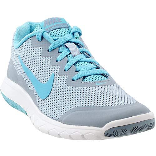 a79605c32fee Nike Women s Flex Experience Rn 4 Blue Grey Gmm Bl Gmm Bl White Running Shoe  10 Women US