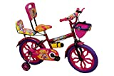 Rising India 16' Pink Kids Bicycle For 5-7 Years Double Seated With Full Chain Cover And Bottle.