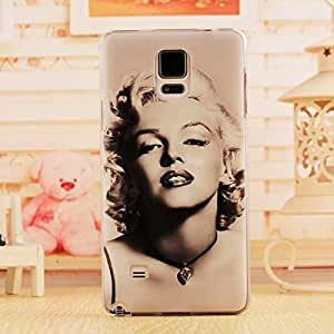 Okfan Galaxy note 4 case Fashion New PC Hard Sink case for Samsung Galaxy Note 4 Marilyn Monroe pattern