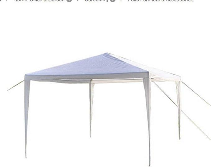 MCombo 10 x10 Blanco Canopy Parte Exterior Boda Tienda de campaña toldo extraíbles Paredes: Amazon.es: Jardín